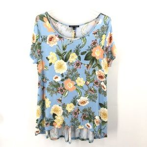 Cable & Gage Colorful Floral Swing Top